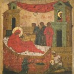 Russian Icon of the Birth of Mary