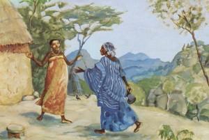 The Visitation – Mary and Elizabeth meet – Luke 1:39-45